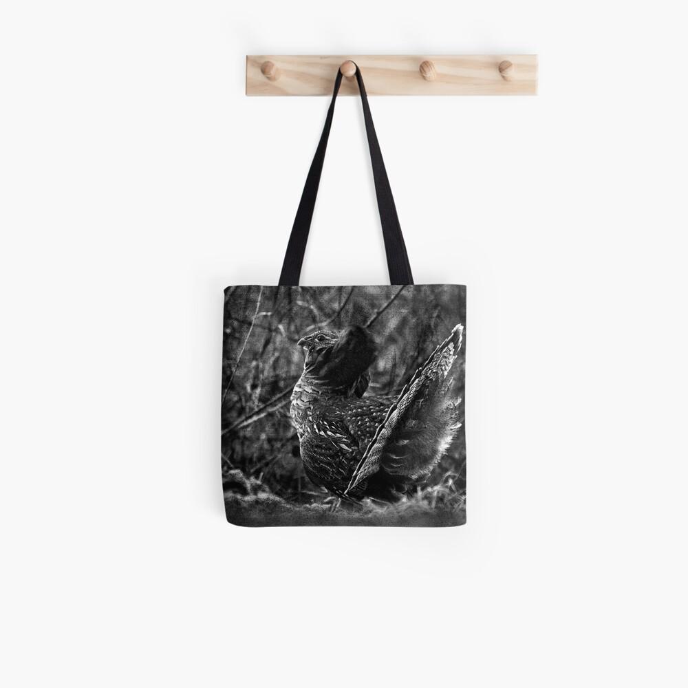 Deep in the Aspen Wood (b&w) Tote Bag