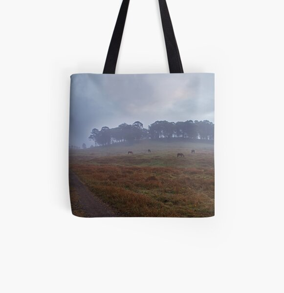 misty valley All Over Print Tote Bag