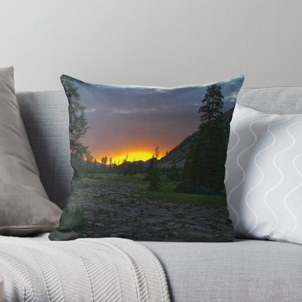 Fire on top of the world Throw Pillow