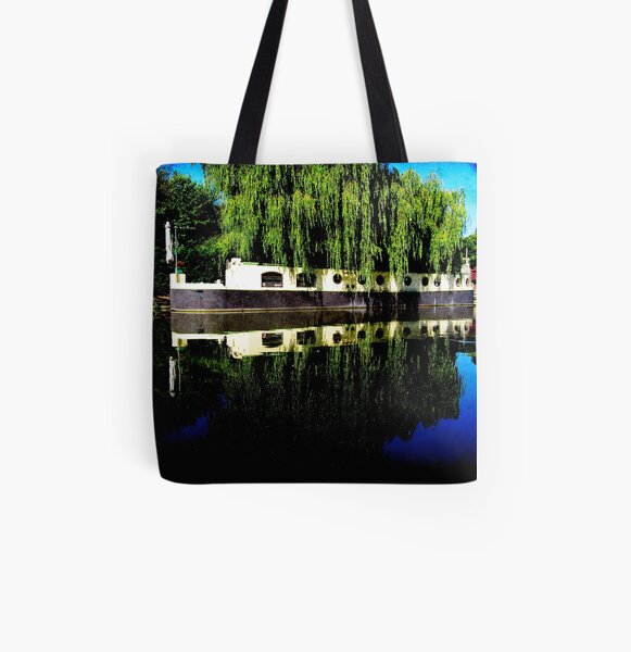 Canal Boat All Over Print Tote Bag