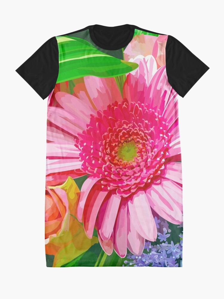 Alternate view of Floral Delight Graphic T-Shirt Dress