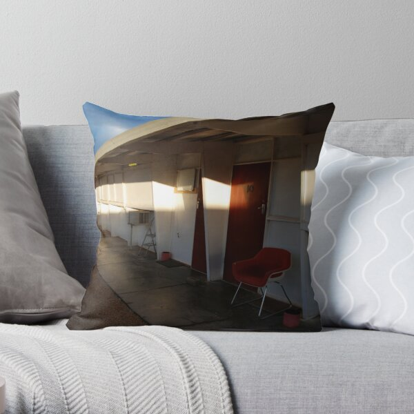Retro Motel, Nullarbor Plain Throw Pillow