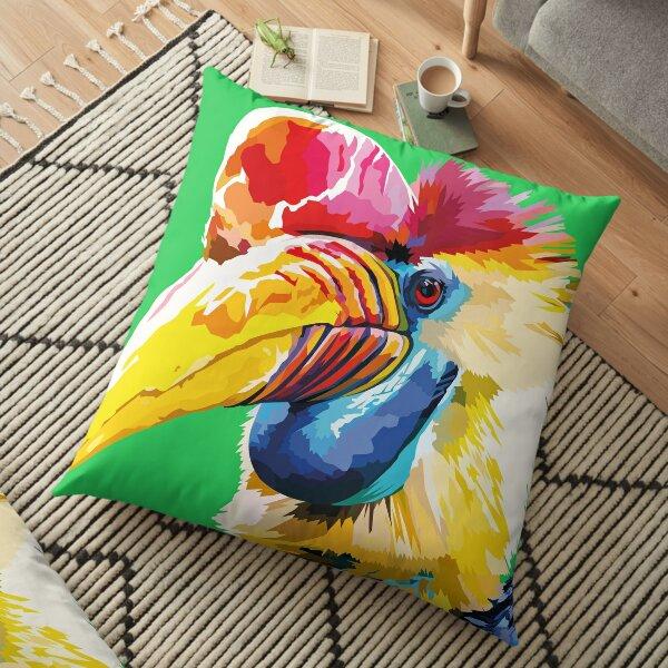 Tropical bird Floor Pillow