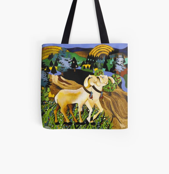 The World At Our Feet All Over Print Tote Bag