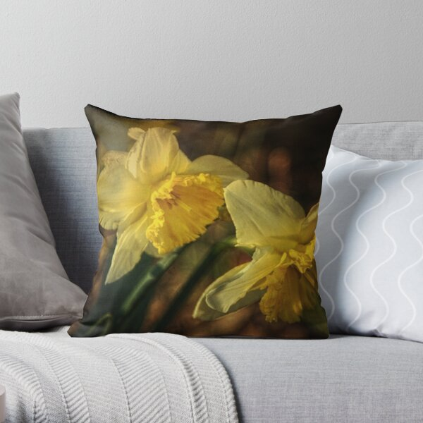 Daffodil Afternoon Throw Pillow