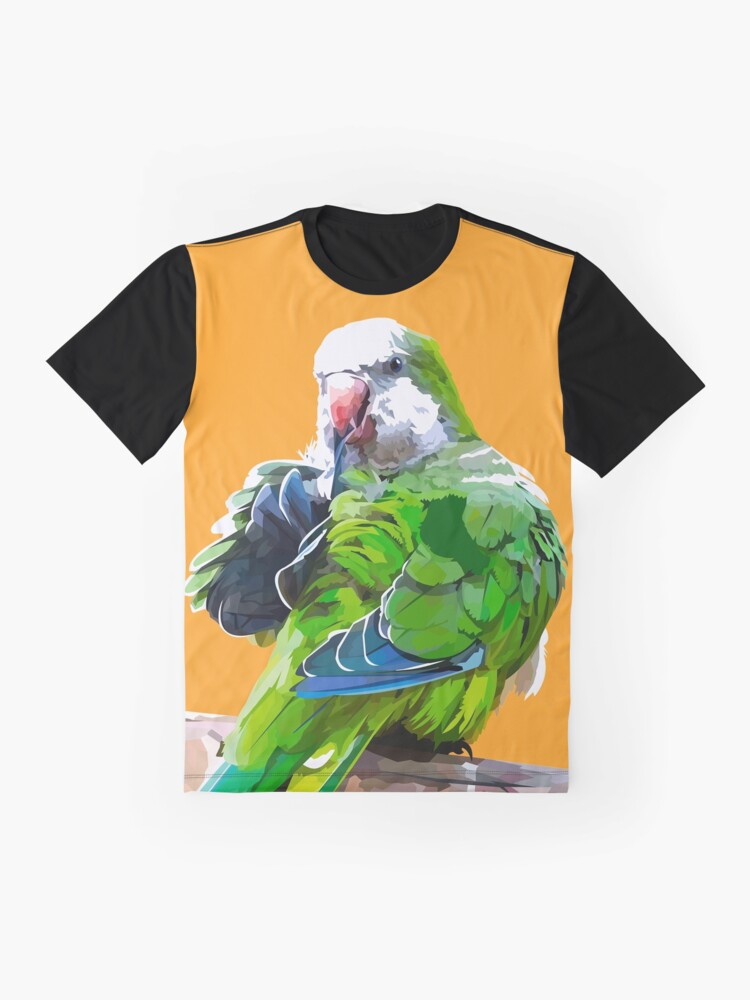 Alternate view of Green little parrot Graphic T-Shirt