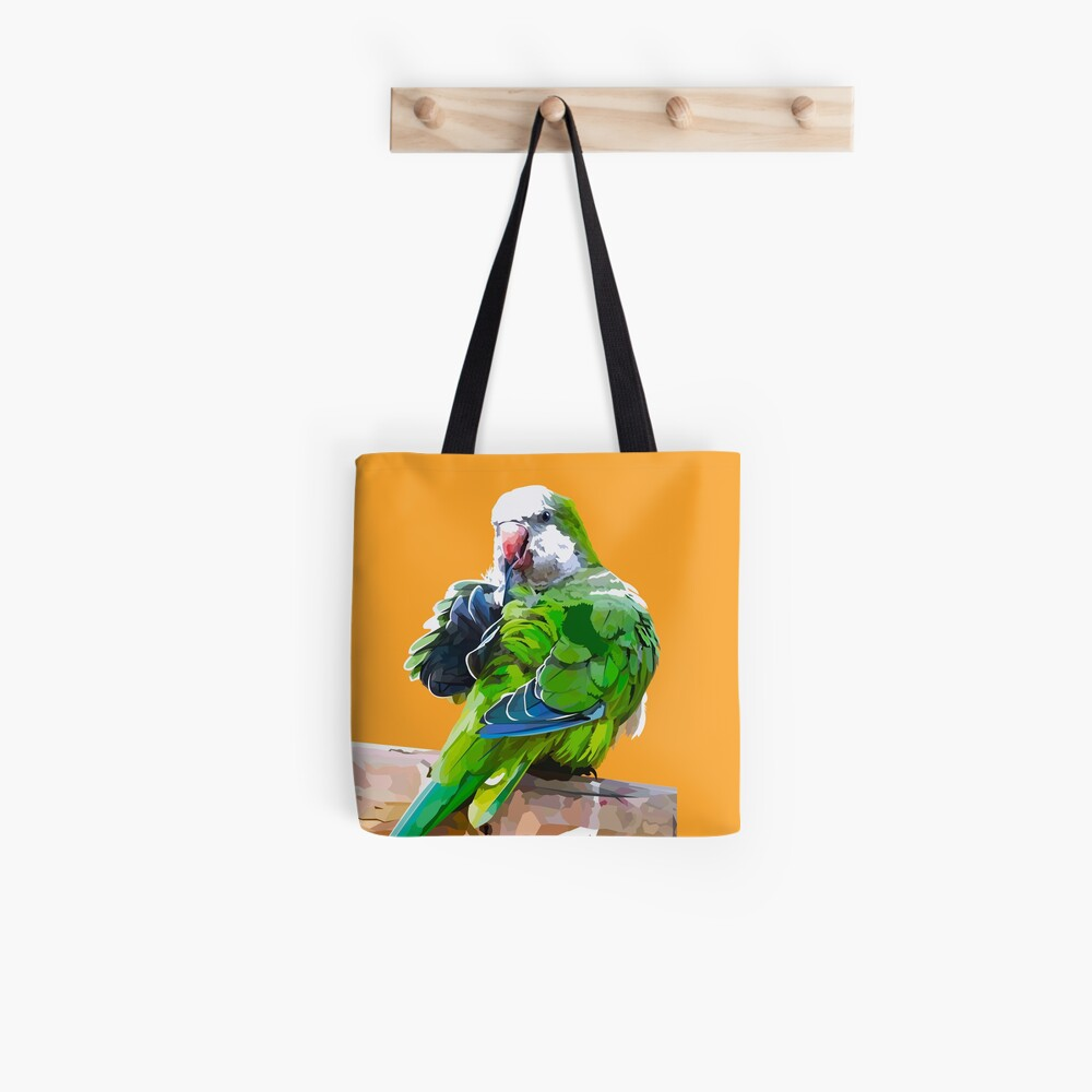 Green little parrot Tote Bag