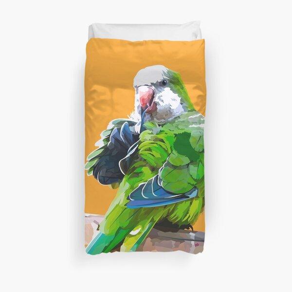 Green little parrot Duvet Cover