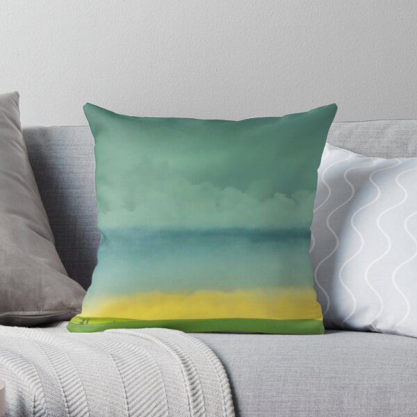 Alberta Fields Throw Pillow