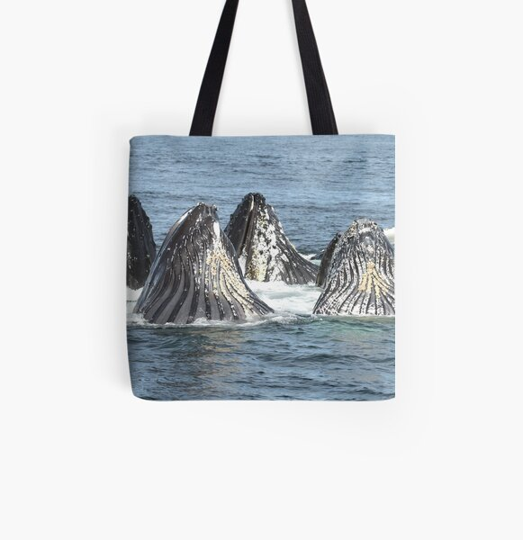 Satisfied Humpback Whales #3 All Over Print Tote Bag