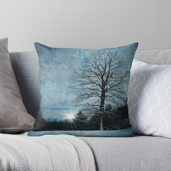 New Blue Sunrise Throw Pillow