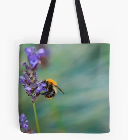 Bumble Bee on Lavender  Tote Bag