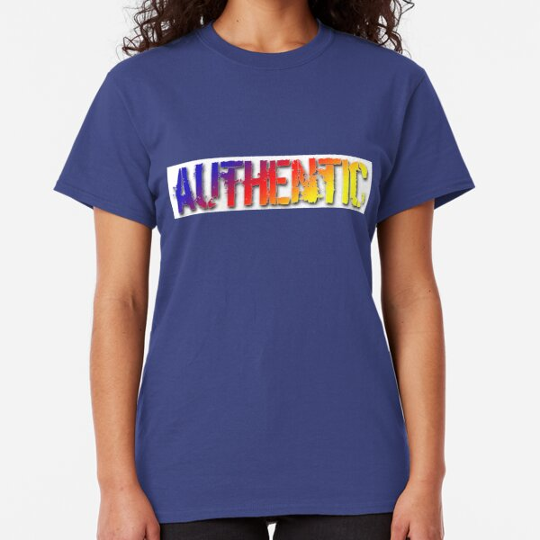 Copy of Authentic - rainbow on white Classic T-Shirt