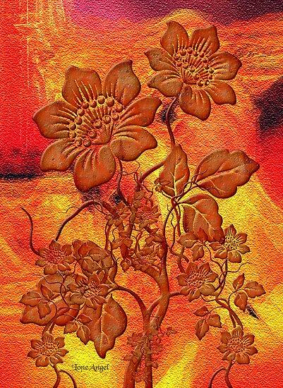 Fire Flowers by LoneAngel