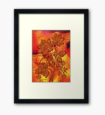 Fire Flowers Framed Print