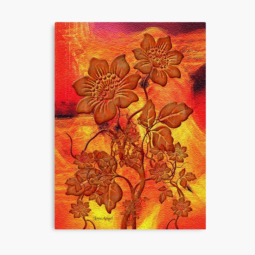 Fire Flowers Lienzo