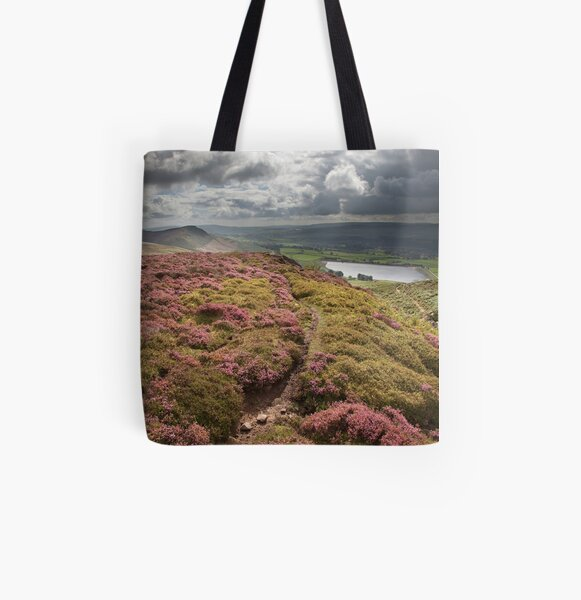 Embsay Crag & Reservoir From Embsay Moor All Over Print Tote Bag