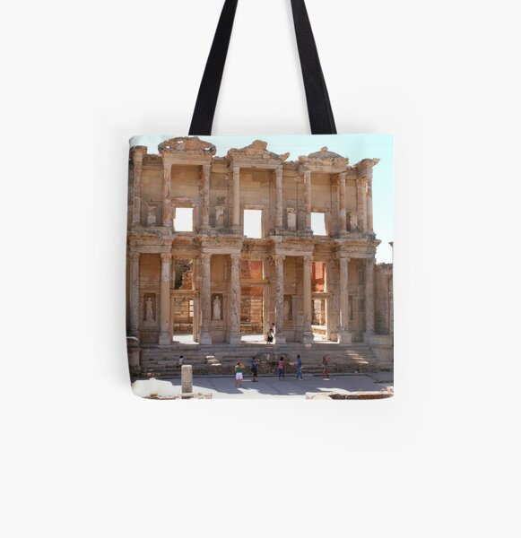 Library of Celsus All Over Print Tote Bag