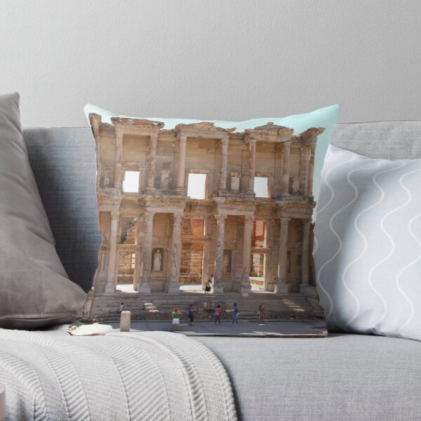 Library of Celsus Throw Pillow