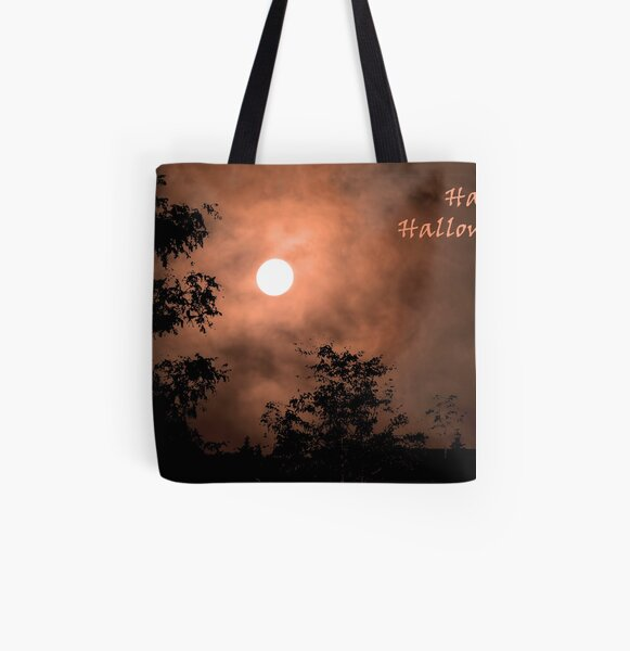 Haunting Moon (card) All Over Print Tote Bag