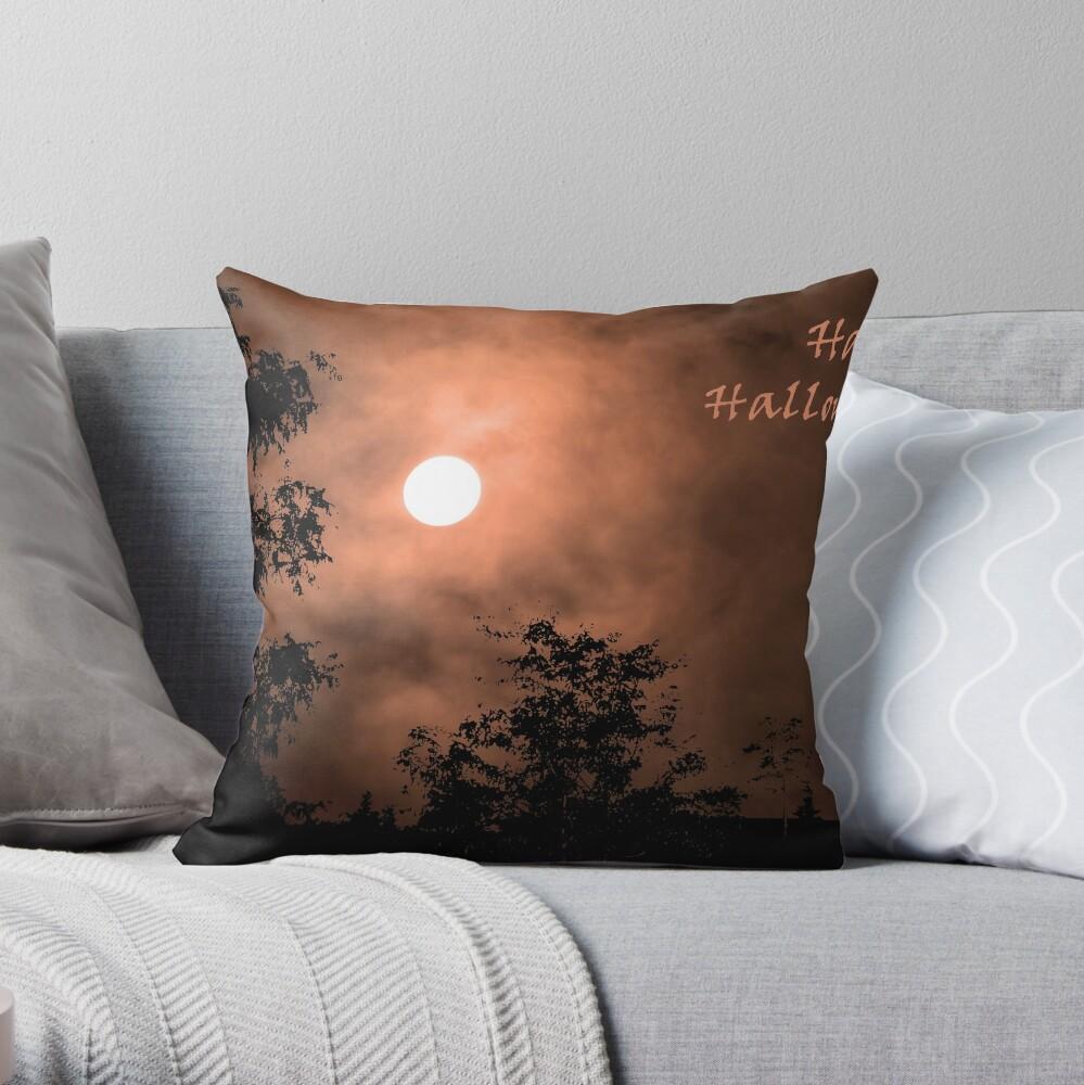 Haunting Moon (card) Throw Pillow