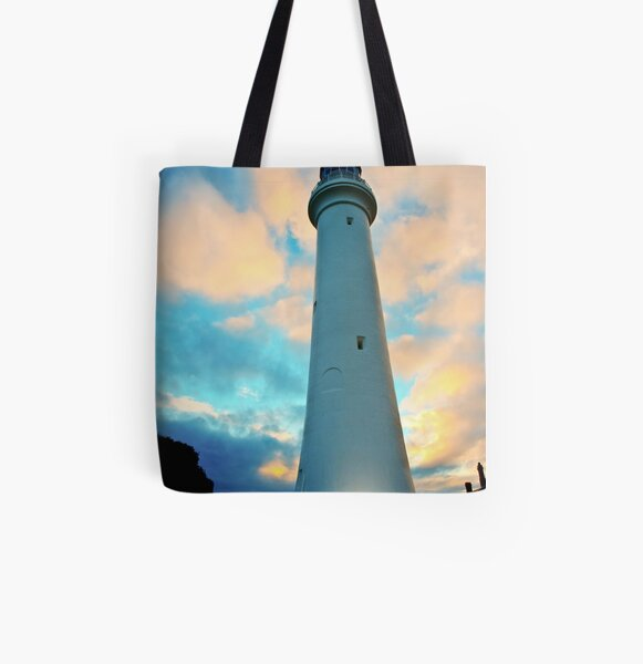 Lighthouse in the Sky All Over Print Tote Bag