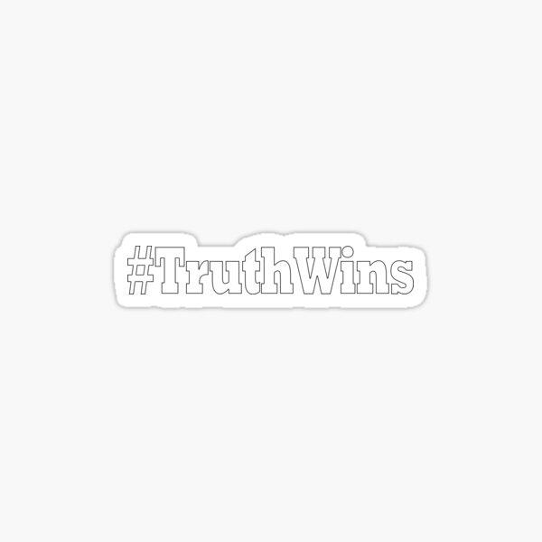 hashtag truth wins  Sticker
