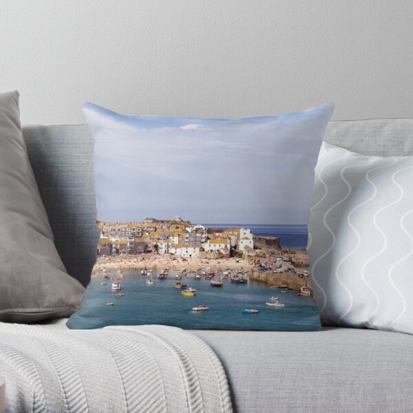 St Ives Harbour 1 Throw Pillow