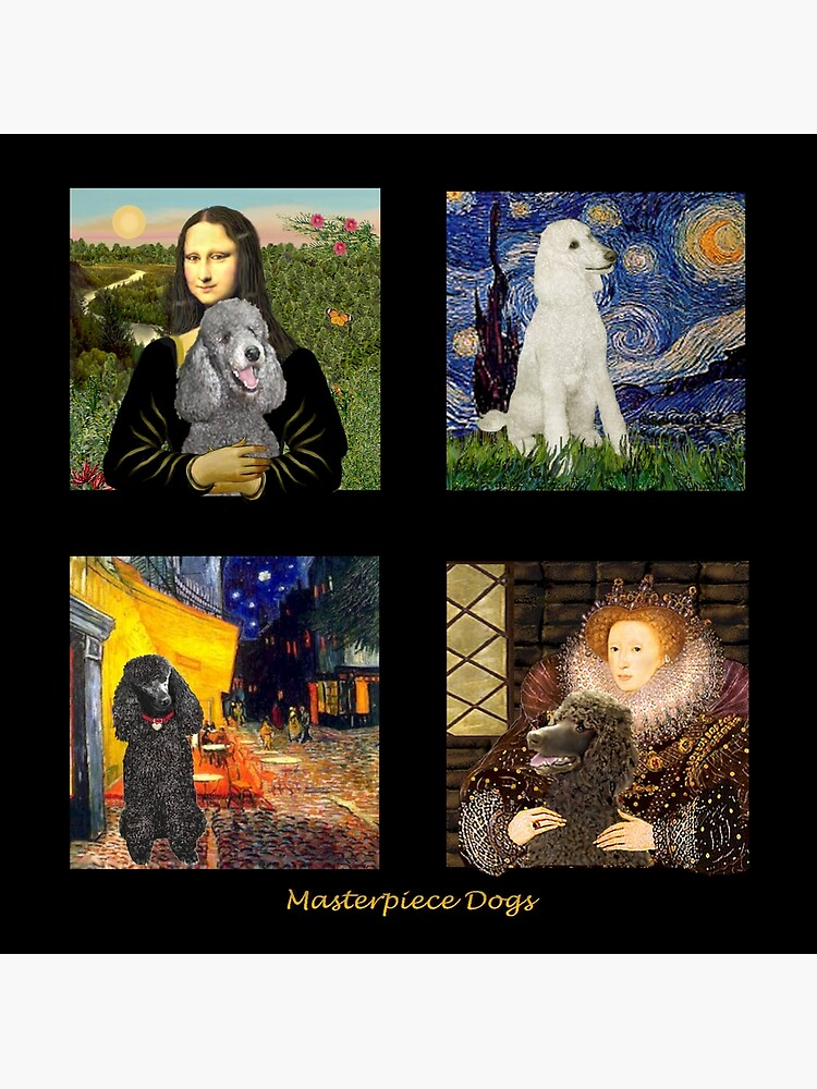 Composite-Standard Poodles Inserted in Famous Art by JeanBFitzgerald
