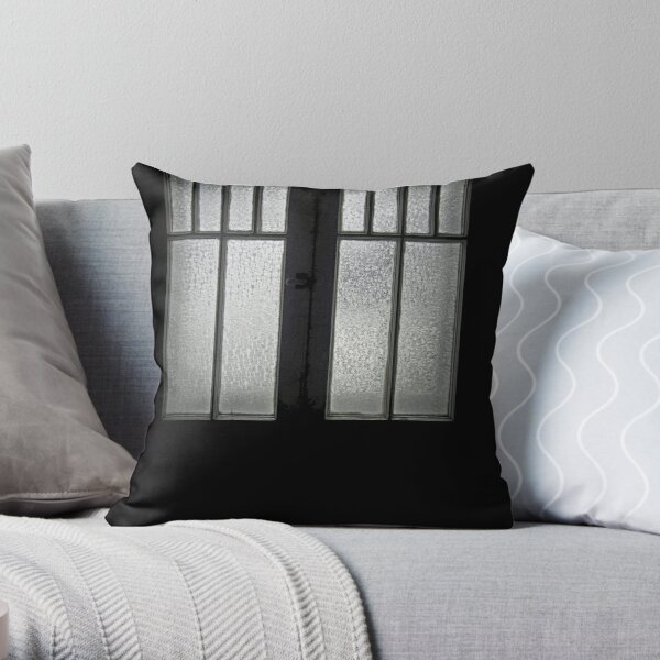 Frosted Casement Lites Throw Pillow
