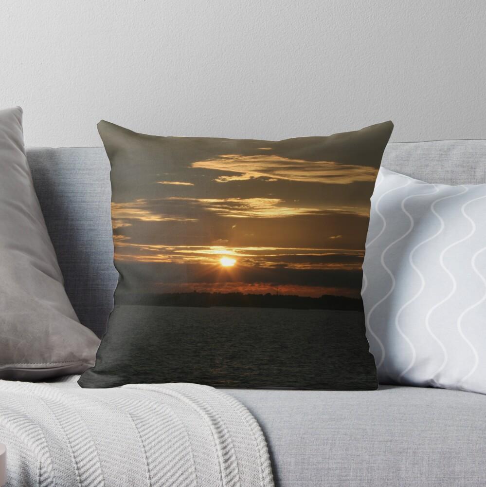 Sunset Calendar 11 Throw Pillow
