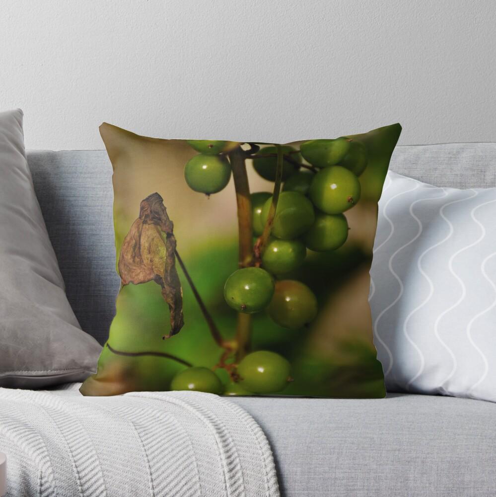 Convolvulous Berries Throw Pillow