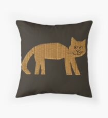 Simple cat Throw Pillow