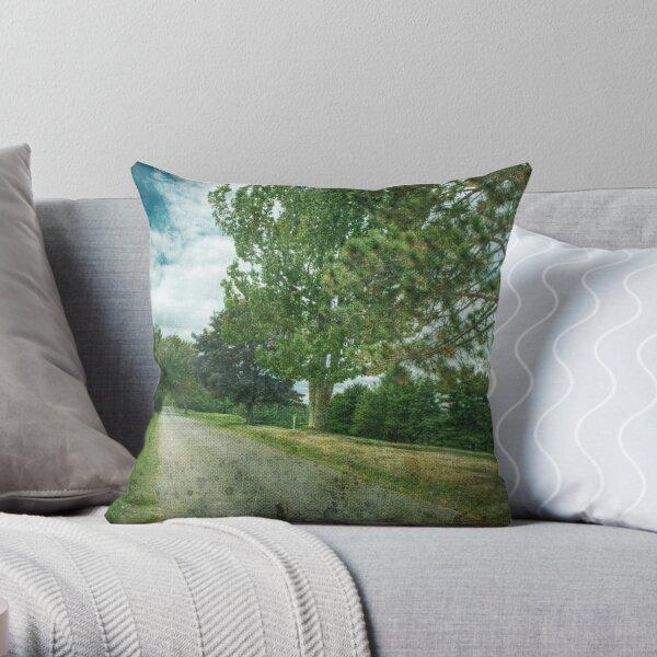 Golf Course Rd Throw Pillow