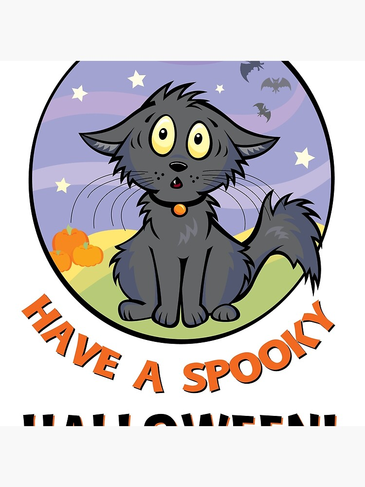 Scaredy Cat - A Spooky Halloween Card by CGafford