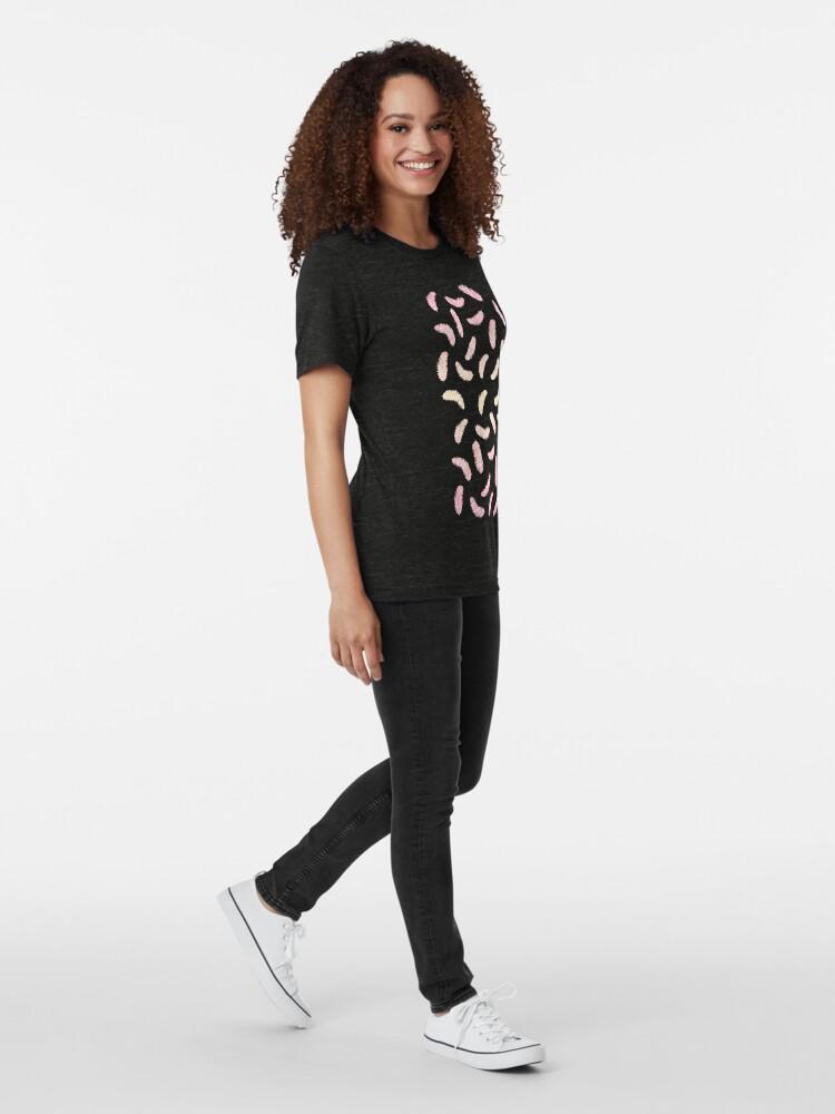 Vista alternativa de Camiseta de tejido mixto Plumas de baile