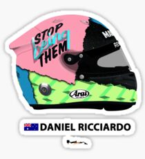 F1 - Daniel Ricciardo - 2019 Helmet. Sticker