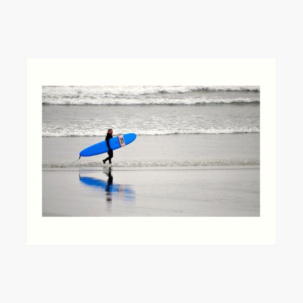 Surfing Reflections Art Print