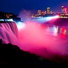 Niagara Falls at Night by Sam Scholes