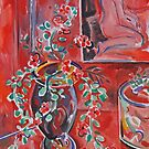 Vines in Vase by Tracy Sabin