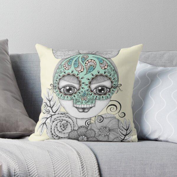 Festive Facade Throw Pillow