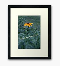There is strength in solitude yellow flower Framed Print