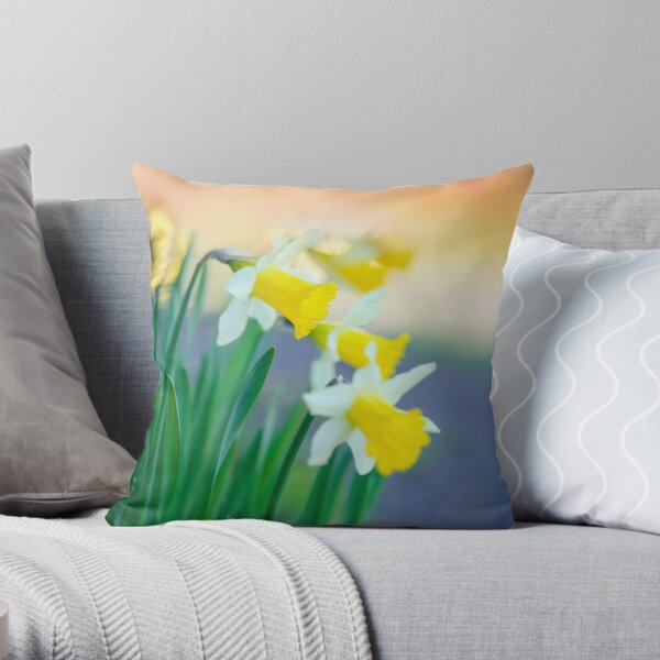 Daffodil Day... Throw Pillow