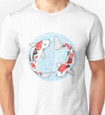Fish carp koi blue Unisex T-Shirt