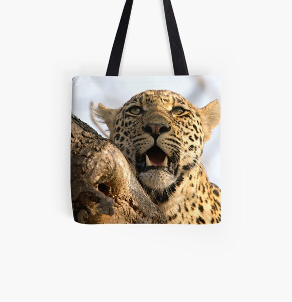 Induna - Young Male Leopard All Over Print Tote Bag