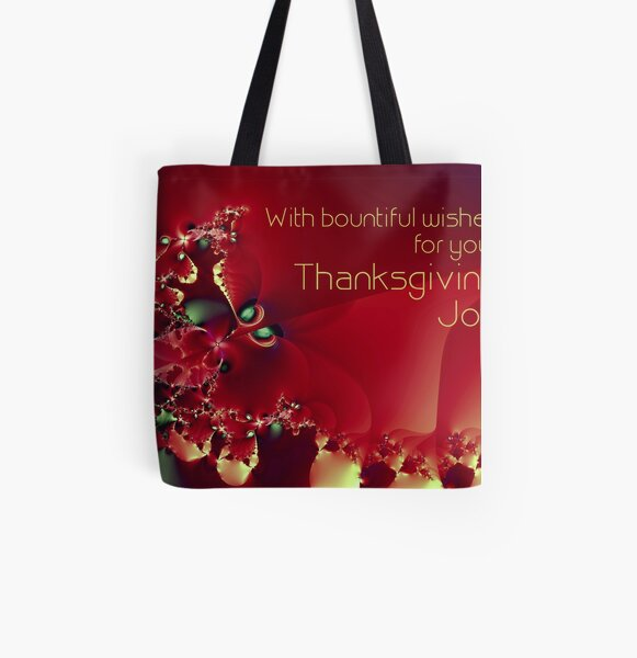 Thanksgiving Card All Over Print Tote Bag
