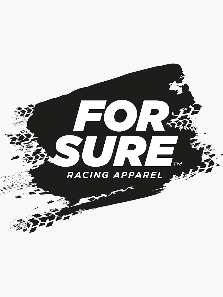 FOR SURE LOGO Sticker BLACK by ForSure