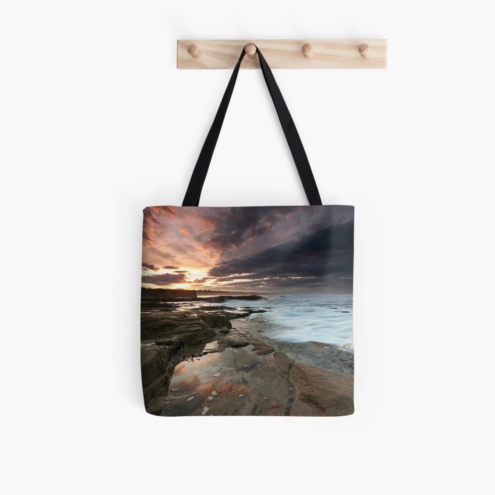 Sluice sunset Tote Bag