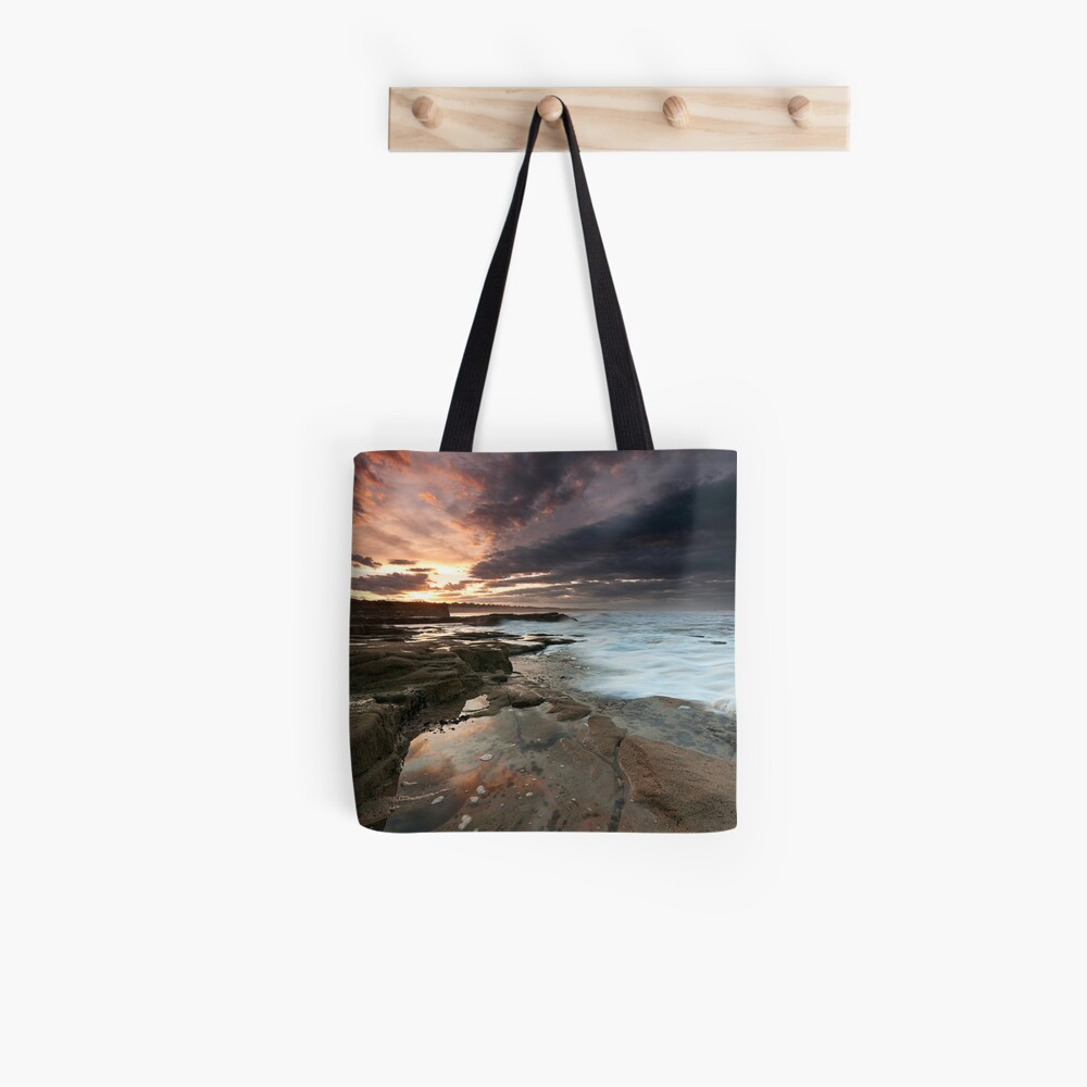 Sluice sunset Tote Bag