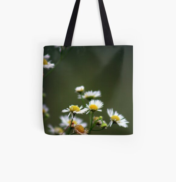 Morning Flowers in Garden All Over Print Tote Bag